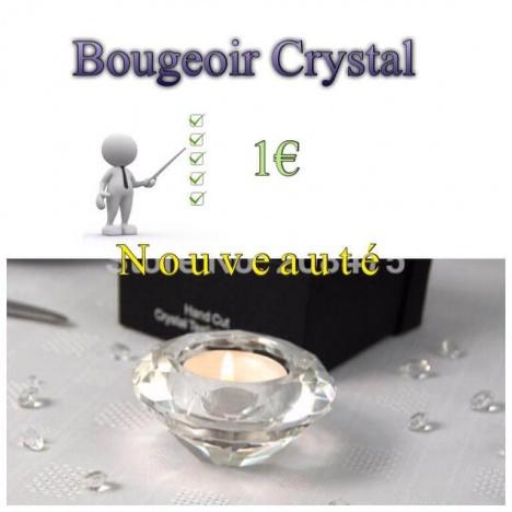 bougeoir crystal