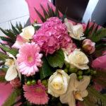 bouquet bulle blanc rose